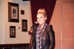 Katy Tiz performs soulfully for a full audience.