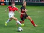Freshman Alison Price fights for the ball.