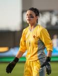 Sophomore goalkeeper Paige Brown.