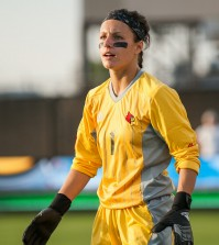 Sophomore goalkeeper Paige Brown.
