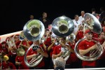 The pep band kept the environment fun and filled with Cardinal classics.
