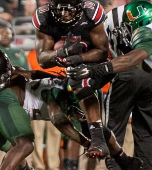 Brown ran through the Miami defense all night.