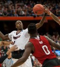 Terry Rozier led the Cards in rebounds with 14 of the Cards' 34 rebounds. Photo by Austin Lassell / The Louisville Cardinal.