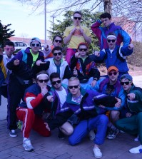 Sigma Chi is dressed to impress for 80's week. The Louisville  Cardinal / Rachel Essa