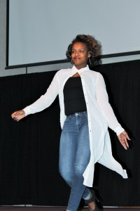 Models from Bourgeoisie MFT of the University of Louisville work the runway.