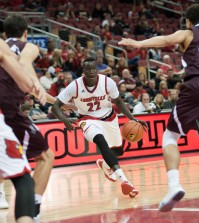 Freshman Deng Adel started for the Cardinals.