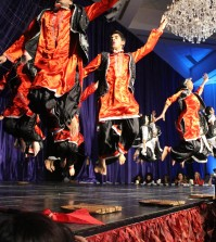 Cardinal Bhangra performs at the 14th annual International Fashion Show