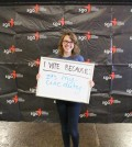 "Freshman Nicole Fielder votes because it's her ""civic duty."" Photo by Ali Davis"