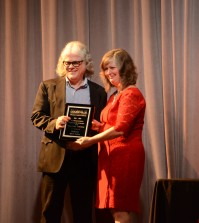 Professor Mark Austin accepts the A&S Distinguished Faculty award for Full-time Teaching.Photo by Rachel Knue.