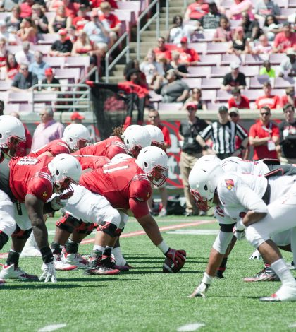Louisville's Red team won 73-7.