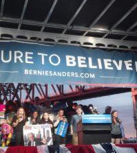 Bernie Sanders Podium