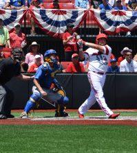 Blake Tiberi's home run shot in the second inning