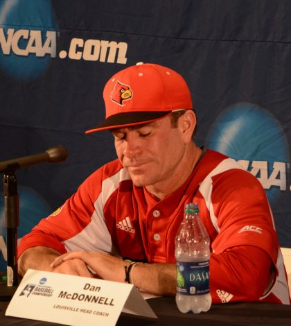 An emotional Dan McDonnell answering questioning during the press conference.