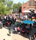 The event drew an exceptionally large crowd of students.  Photo by Ali Davis