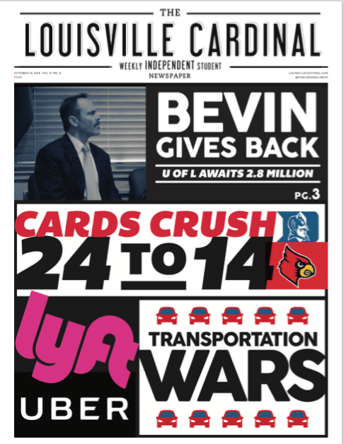 The Louisville Cardinal Cover 10/18/16