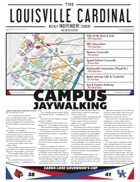The Louisville Cardinal November 29, 2016 Issue