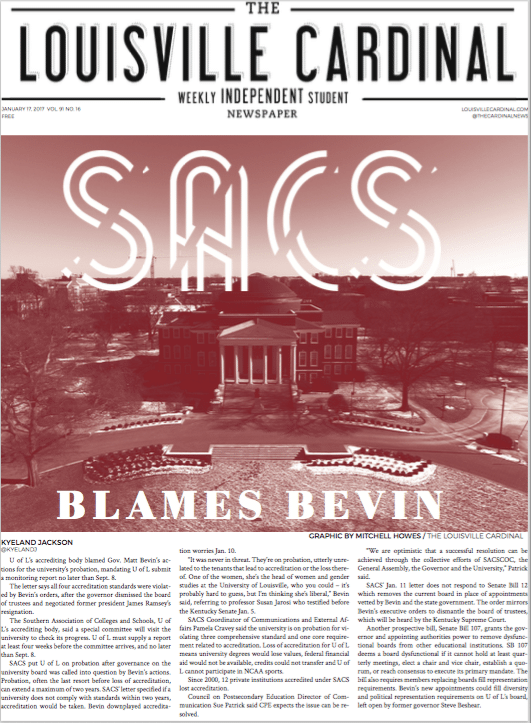 Jan. 17, 2017 Issue The Louisville Cardinal Bevin SACS