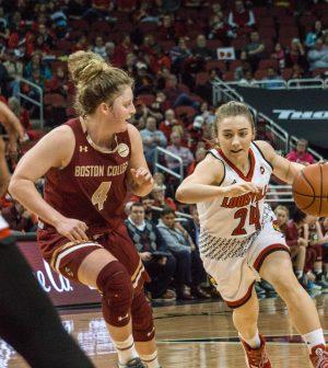 Women's basketball, u of l, boston college