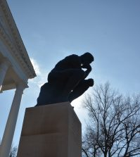 Grawemeyer hall, thinker, thinker statue, u of l, louisville, university of louisville
