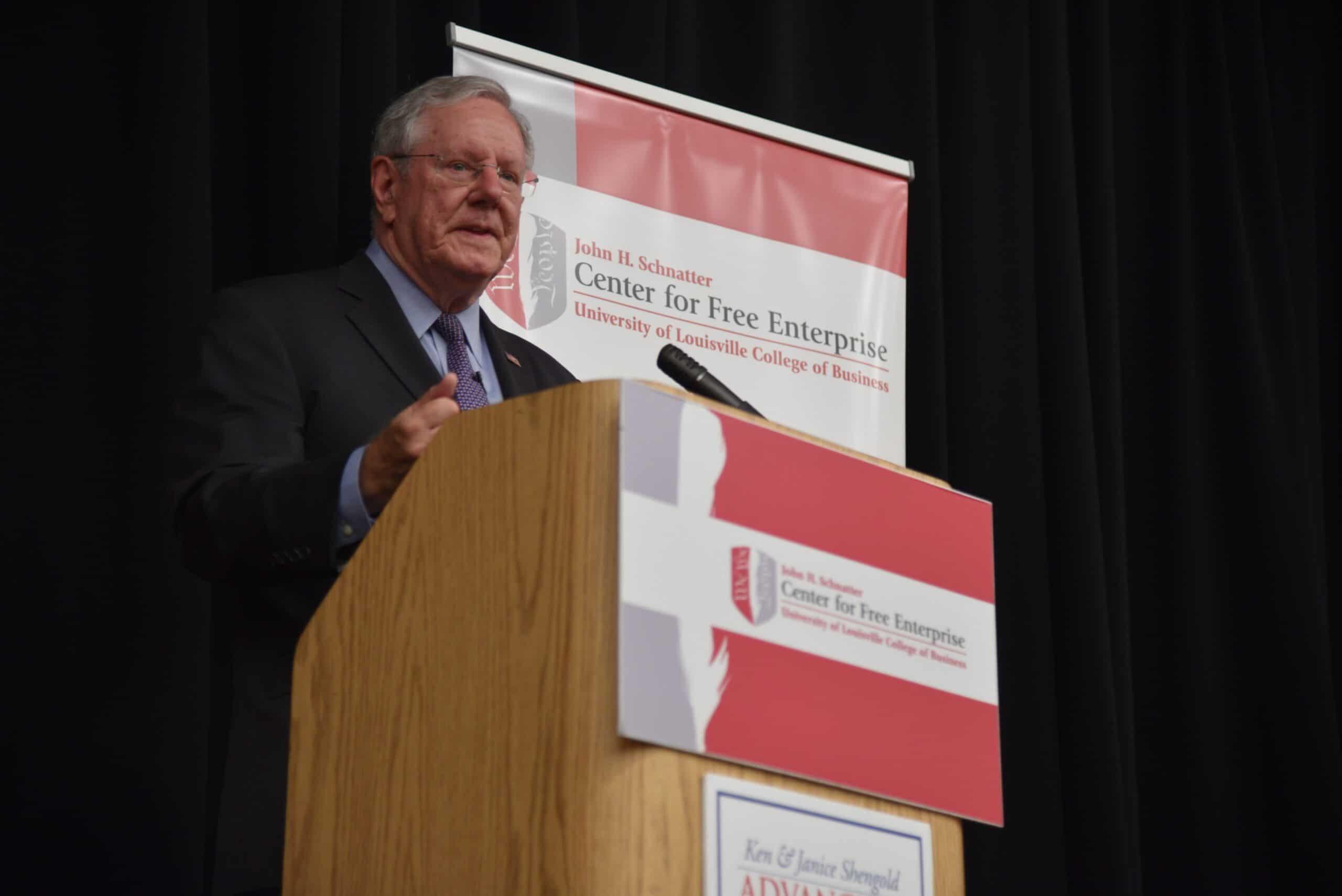 Steve Forbes, John Schnatter Center for Free Enterprise