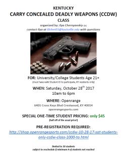 open carry, guns, class