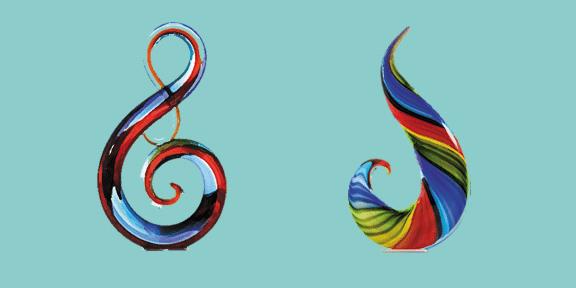 glass, swirls, circles