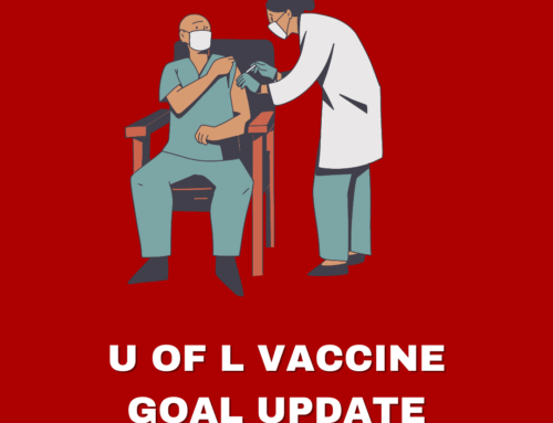U of L reaches vaccination goal; resists easing restrictions